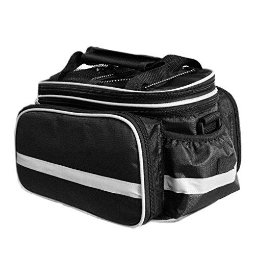 Fahrradtasche, Bodecin Outdoor Rucksack Fahrrad Rucksack Bike Gepäcktasche Gepäck Paket Rack Taschen Gepäckträger Tasche mit Regendichtes Abdeckung Schwarz