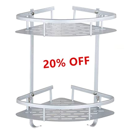 Amazon Com Bathroom Corner Shelves Aluminum Alloy Anodised