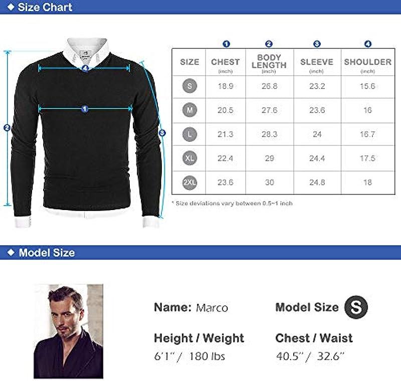 Mocotono męski sweter z dzianiny sweter z długim rękawem dekolt w serek, kolor: czerwony (Weinrot) , rozmiar: small: Odzież