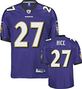 15022319a7e Ray Rice Jersey Reebok Authentic Purple 27 Baltimore Ravens Jersey ...