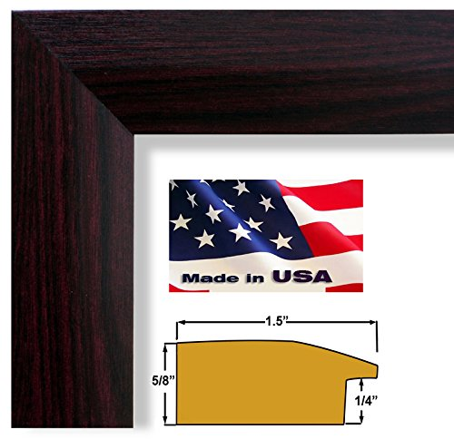 13x19 Cherry Maroon 1.5 in Sloped Elegant Picture Poster Frame Wood Composite