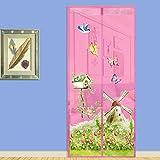 Smartcoco Magnetic Screen Door Summer Anti-mosquito Mesh Curtain Mosquito Net Soft Yarn Door Tulle Window Screen, Fit Doors Up To 33'' W x 79'' H MAX