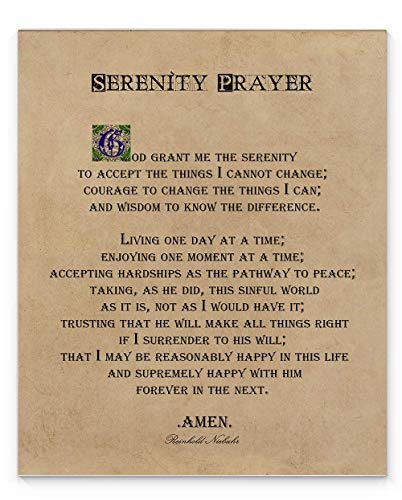 Serenity Prayer Decor Unframed Art product image