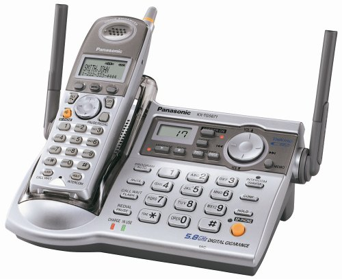 Gigarange Digital Cordless Phone System - Panasonic KX-TG5671S 5.8 GHz FHSS GigaRange  Digital Cordless Answering System