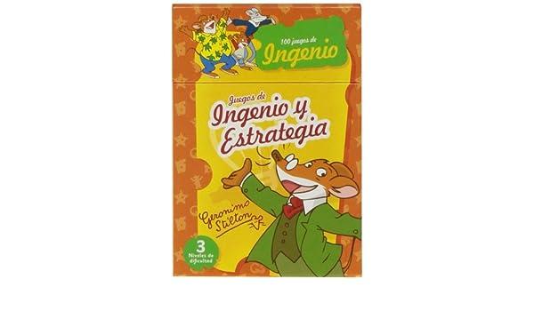 JUEGOS INGENIO ESTRATEGIA GERONIMO STILTON: 9788415857426 ...