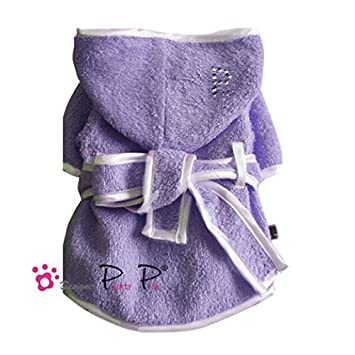 Pretty Pet Dog Dressing Gown Terry Towelling Lavender, X-Small ...