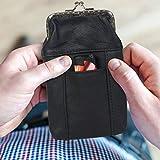 Leather Cigarette Case Pack Holder Regular or 100's Lighter Pocket by Leatherboss
