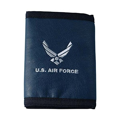 U.S. Air Force with Hap Arnold Wing Logo Direct Embroidered on Ultra Leather Fabric Tri Fold Wallet