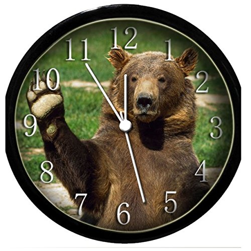 Glow in the Dark Wall Clock - Bear Waving -