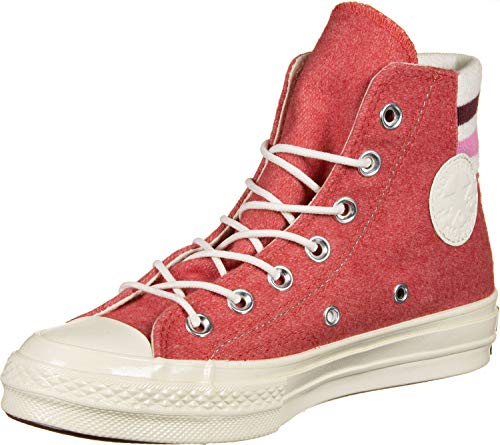 Converse Chuck '70 Retro Stripe High Top Shoes (Sedona Red/Pink/Egret, Size Mens 5 M US/Womens 7 M US)
