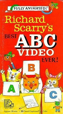 Amazoncom Richard Scarrys Best Abc Video Ever Vhs Peter