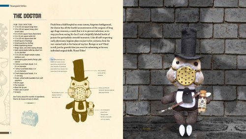 Steampunk Softies: Scientifically-Minded Dolls from a Past That Never Was 5