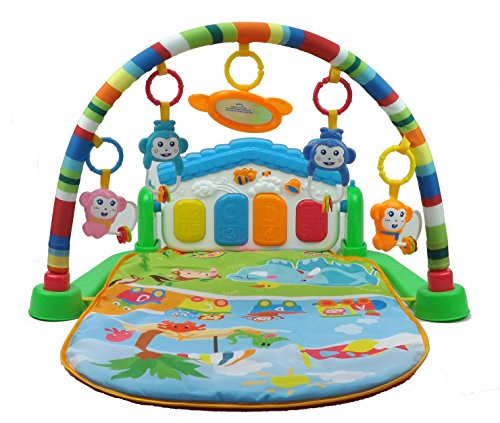 Baby Gym Play Mat Lay /& Play 3 in 1 Fitness Music And Lights Fun Piano Boy Girl