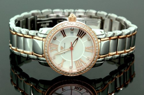 Ladies Classic Diamond Aqua Master Watch Two Tone w319c by IcedTime
