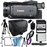 Canon VIXIA HF G40 HFG40 with Tripod, Filter kit including UV FIlter, LED Flash Light, 32GB SD Class 10 Memory Card, Camera Case, USB Card Reader & More