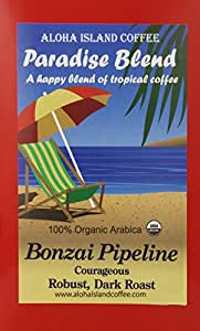 Aloha Island Coffee Dark Roast Certified Organic Coffee Pods, 18 Pods, 18-Count