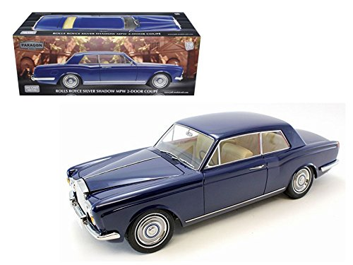 Paragon PA98203 1968 Rolls Royce Silver Shadow Oxford Blue from Movie Thomas Crown Affairs Ltd to 3500pc 1/18 Diecast Model Models