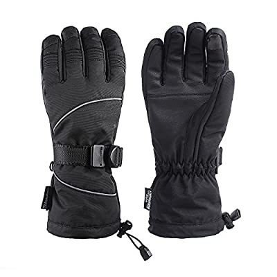 Ski Gloves, Waterproof Windproof Winter Snow Gloves with Sensitive Touchscreen Function for Skiing, Snowboarding, Motorcycling,Cycling, Men and Women