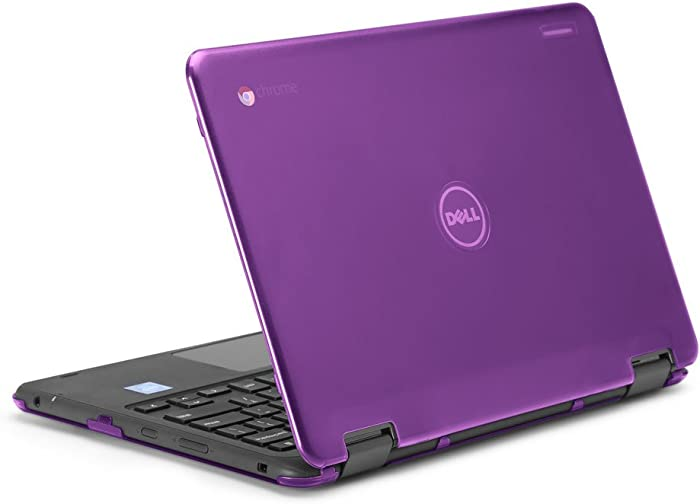"""mCover iPearl Hard Shell Case for 2017 11.6"""" Dell Chromebook 11 3189 Series 2-in-1 Laptop (NOT Compatible with 210-ACDU / 3120/3180 Series) - 3189 Purple"""