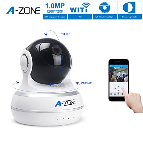 A-ZONE Network IP Camera Wifi Camera Day Night Pan/Tilt Baby Monitor HD 720P(1MP) Surveillance IP Camera with...