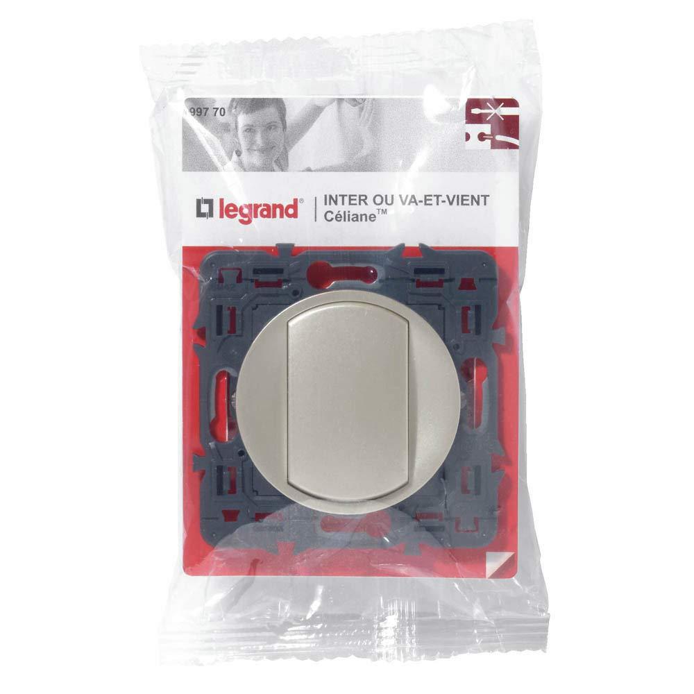 para la instalaci/ón 10 amperes conmutadores el grafito Legrand LEG99536 Celiane 2