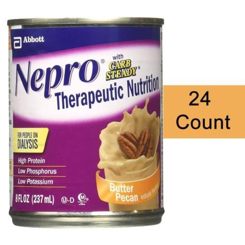 Nepro with Carb Steady Complete Nutrition, Butter Pecan, Case of 24 Cans
