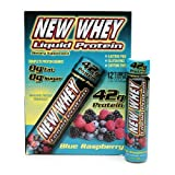 New Whey Liquid Protein, Tubes, Blue Raspberry, 12 pk 3.8 oz (112 ml)(pack of 2)