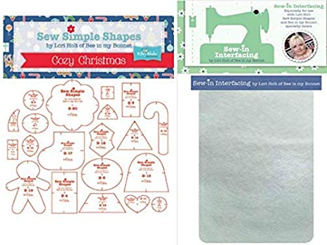 from Lori Holt *NEW* SEW SIMPLE SHAPES COZY CHRISTMAS TEMPLATES