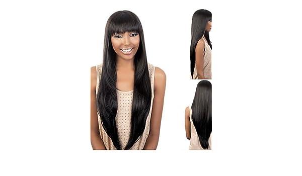 de moda las pelucas del afroamericano sintéticas peluca de pelo largo ondulado atractivo para las mujeres pelucas naturales sw0217 , multicolor: Amazon.es: ...