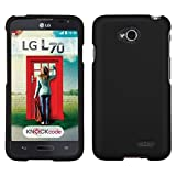 lg l70 phone accessories - Asmyna Phone Protector Cover Rubberized for LG Optimus Exceed 2/Optimus L70 - Retail Packaging - Black
