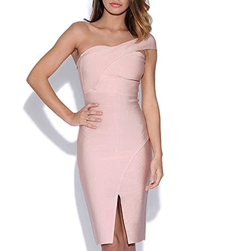 Sunlen Women's One Shoulder Split Bandage Bodycon Dress SL11212