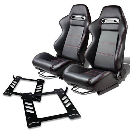 Pair of RSTRPVCBK Racing Seats+Mounting Bracket for Jeep Wrangler (Jeep Racing Seats)