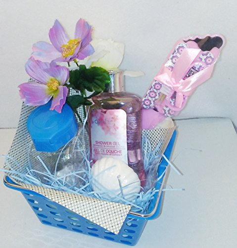 Graduation Blue April Bath & Shower Scented Body Lotion Bath & Body Works Mother's Women's Gift Basket Bundle (Homemade Christmas Costume Ideas Men)