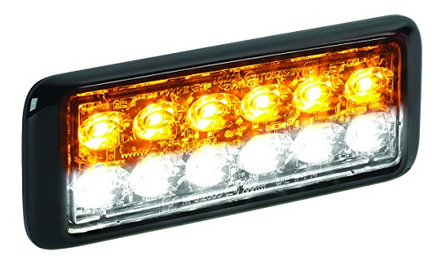 Federal Signal MPS1200U-WA White/Amber MicroPulse Ultra 12 Class 1 12-LED Warning Light