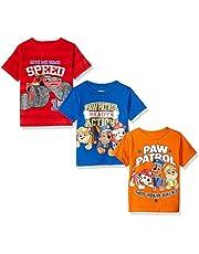 Nickelodeon Boys' Little Boys' Paw Patrol and Blaze 3 Pack T-Shirts