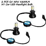 Aokland Automotive LED Headlight Bulbs 2 PCS 3200LM 6000K G5 30W COB H7 Car Head Light Lamp Bulb Car LED Headlight Bulb