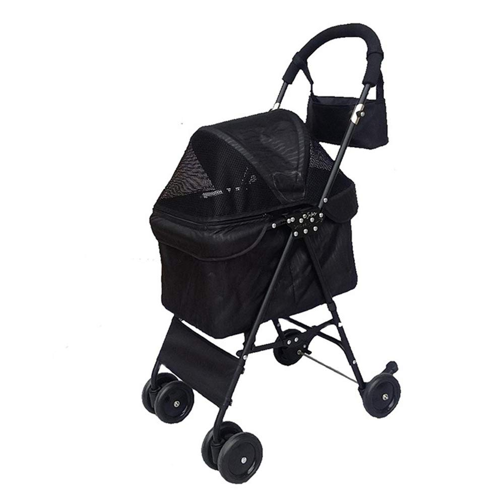 2 Pet Stroller Easy Foldable with Two Front Swivel Wheels and Rear Brake Suitable for Small Pet Cats and Dogs,2