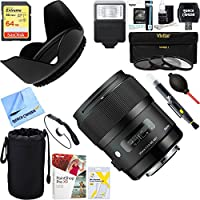 Sigma Art 35mm F/1.4 DG DG HSM Wide-Angle Lens for Sigma (340110) + 64GB Ultimate Filter & Flash Photography Bundle