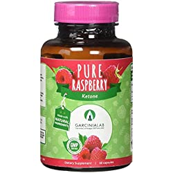 Garcinia Lab 100% Pure Raspberry Ketones All Natural Weight Loss Supplement Extra Strength Ketones, Max Strength Plus Appetite Suppressant Diet Pills Energy and Metabolism, 1000 mg