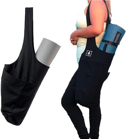 BFVV Yoga Mat Bag Yoga Tote Sling Carrier with Large Side Pocket /& Zipper Pocket Fits Most Size Mats