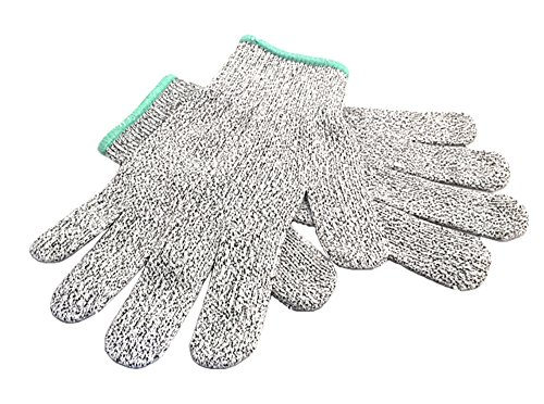 Cut Resistant Gloves - High Performance Level 5 100% Protection, Food Grade, Light Weight, Certified Breathable and Extra Comfortable Size Large, Medium, (Weight Medium Potato)
