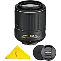 AF-S DX NIKKOR 55-200MM f/4-5.6G ED Vibration Reduction II Zoom Lens with Cloth