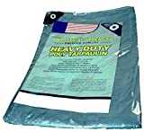 Premium Heavy Duty Poly Tarpaulin 6 X 8 Waterproof Camping Poly Tarp, Protect Your Tent, Flatbed, Firewood, or Roof