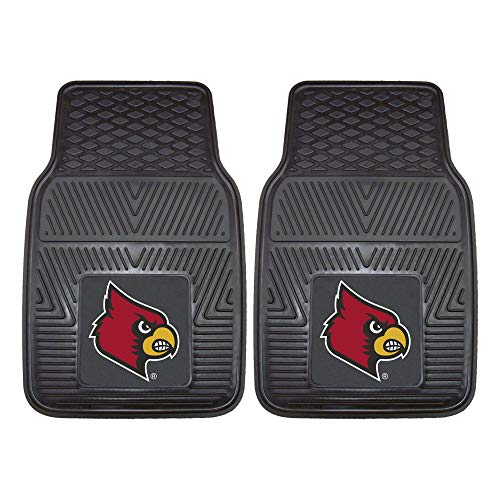 FANMATS NCAA University of Louisville Cardinals Vinyl Heavy Duty Car Mat (Cardinals Louisville Car)