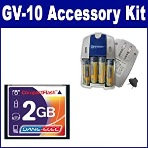 Casio GV-10 Digital Camera Accessory Kit includes: T44654 Memory Card, SB257 Charger