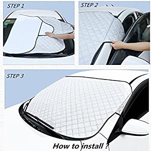 Windshield Snow Cover Car Snow Cover,Windshield Snow Cover,Frost Car Windshield Snow Cover,Frost Guard Protector,Ice Cover (Car Windshield Snow Cover)