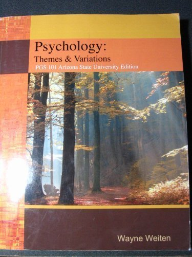 Psychology : Themes and Variations, Briefer Study Guide 7TH EDITION