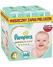 Pampers Premium Care, Rozmiar 4, 168 Pieluszki, Najdelikatniejszy Komfort I Najlepsza Ochrona Skóry Oferowane Przez Pampers, 9kg-14kg