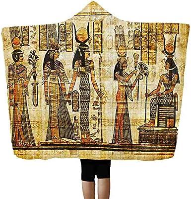 Hffan Altägyptisch Pharao con capucha techo aire acondicionado manta TV manta siesta llevar un Hutdecke capa mágica Hutdecke caliente Supersoft microfibra Wohndecke/Sofadecke/Reisedecke 130X150Cm, poliéster, Mehrfarbig_a, para Galaxy S3: Amazon.es: Hogar