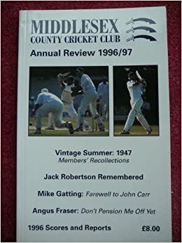 Middlesex County Cricket Club Review 1996-97